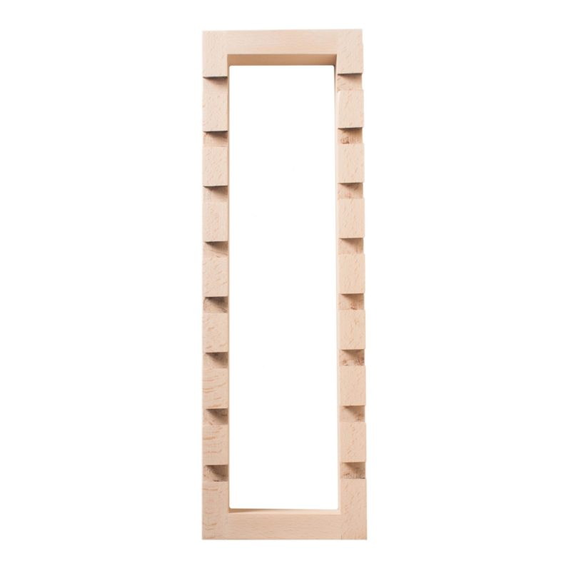 Wooden rectangular frame to hold and exhibit pairs of chopsticks